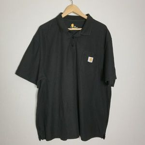 Carhartt black polo with pocket size 2xl